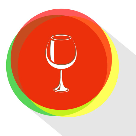 moon shadow: goblet. Internet template. Vector icon. Illustration