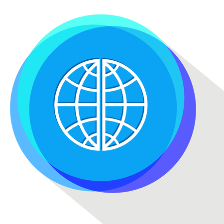 globe. Internet template. Vector icon. Illustration
