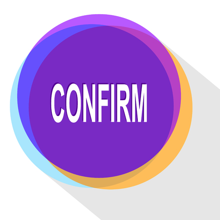 confirm: confirm. Internet template. Vector icon. Illustration