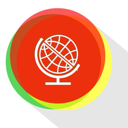 globe  the terrestrial ball: globe. Internet template. Vector icon. Illustration