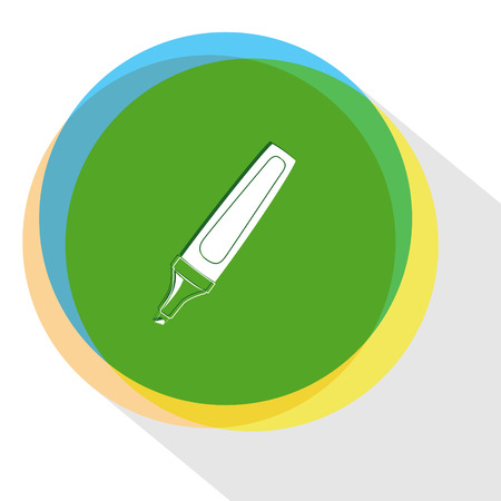 felt: felt pen. Internet template. Vector icon.