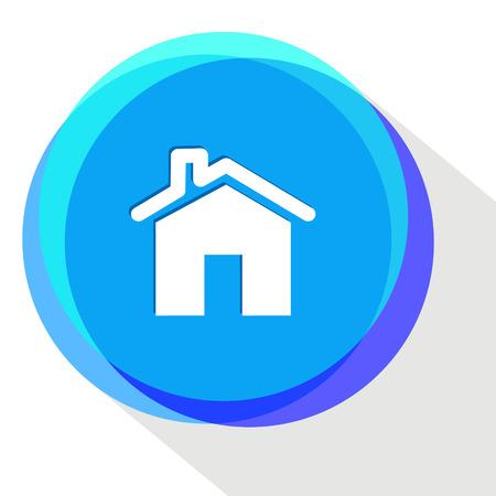 home. Internet template. Vector icon.