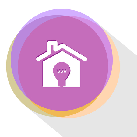 flue: light in home. Internet template. Vector icon.