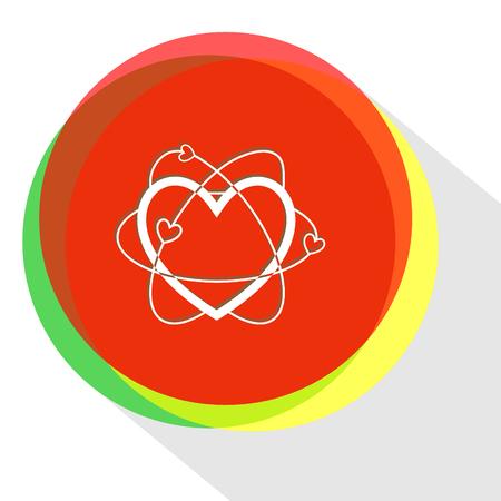 atomic heart. Internet template. Vector icon. Illustration