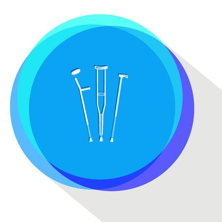 crutches. Internet template. Vector icon. Illustration