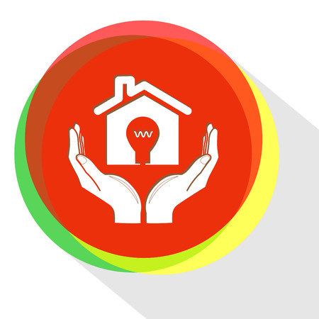 economy in hands. Internet template. Vector icon.