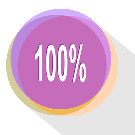100%. Internet template. Vector icon. Illustration