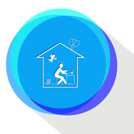 inspiration: home inspiration Internet template icon.