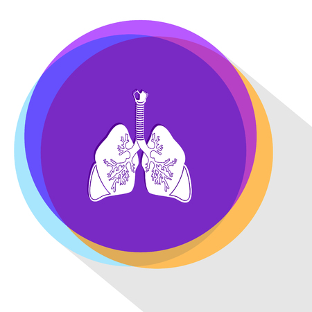 lungs. Internet template.