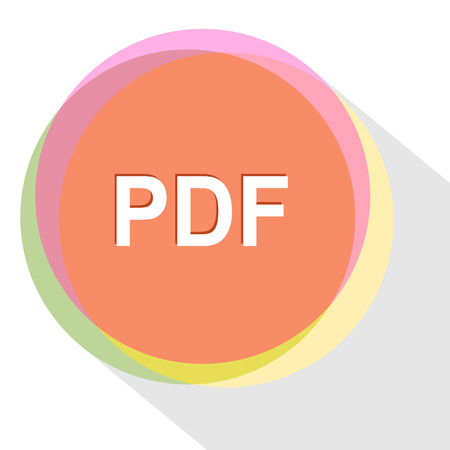 extention: pdf. Internet template. Vector icon.
