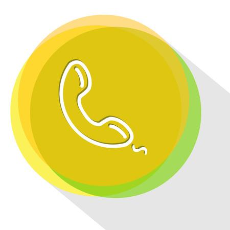 handset. Internet template. Vector icon.