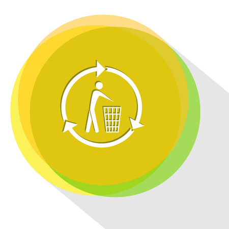 recycling bin. Internet template. Vector icon.