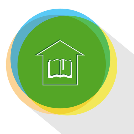 library. Internet template. Vector icon.