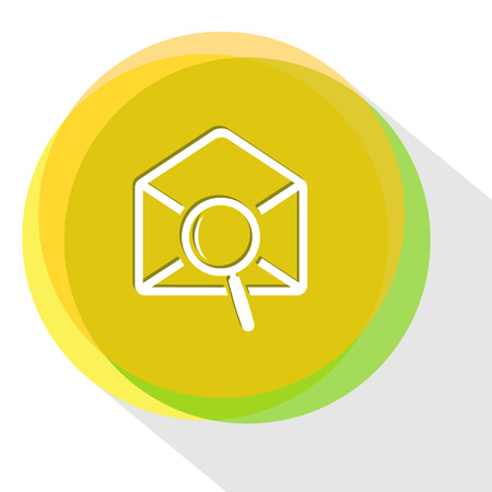 mail find. Internet template. Vector icon. Illustration