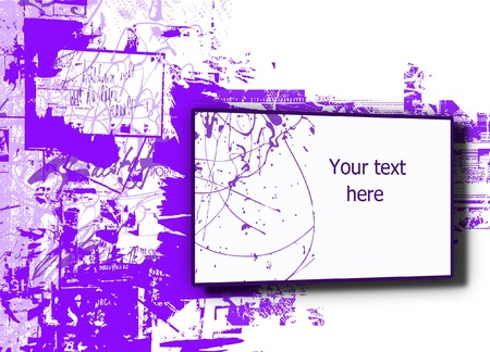 slash: Abstract illustrated grunge background with space for your text Illustration
