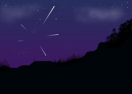 Shooting Stars Vector