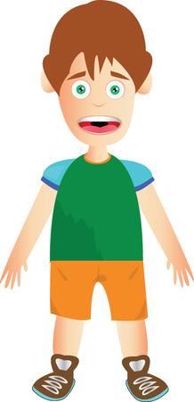 茶髪: 茶色の髪と黄色のパンツの男