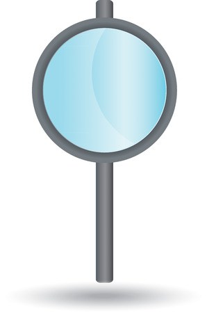 ordinary: Ordinary magnifying glass, grey with blue glass