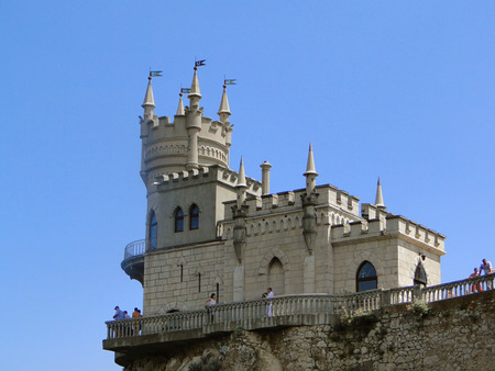 excursions: architectural monument in the Crimea- Swallow Stock Photo