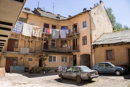 jewish: Jewish courtyard in Lviv