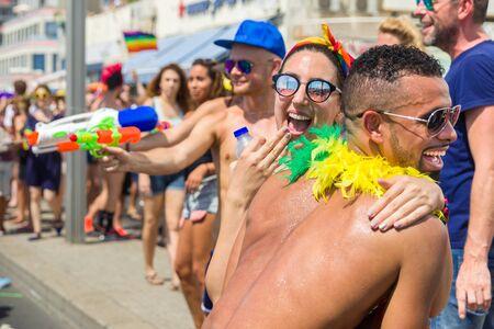 Gay Pride Parade in Tel Aviv , Israel 2018. Self Photos.