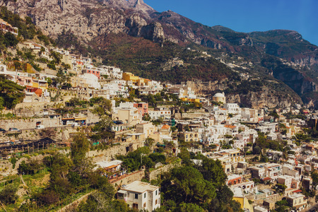 Picturesque Amalfi Coast, Italy. Stock Photo