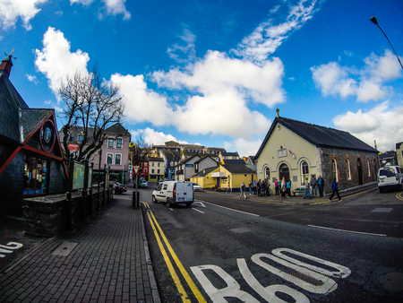 Cork, Ireland - 2019. Travel photo of the city of Cork, county side Ireland.