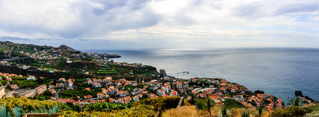 Panorama of Funchal on Madeira Island, Portugal. Stock Photo