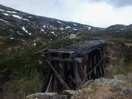 Train tour to Yukon from the port of call Skagway, Alaska, United States