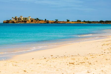 Idyllic beach in St. John's, Antigua and Barbuda, a country located in the West Indies in the Caribbean Sea.