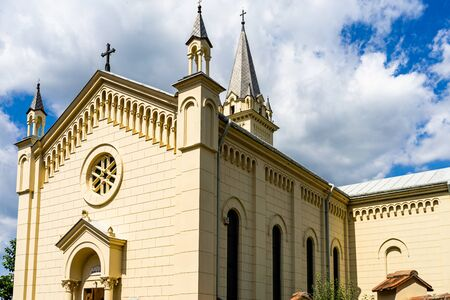 Catholic church in Sighisoara citadel. 스톡 콘텐츠