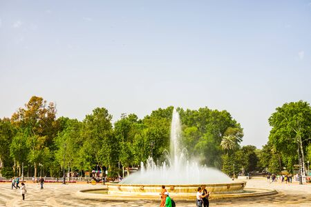 Seville, Spain – 2019. The beautiful Plaza de Espana (Spanish Square) in Seville, Andalusia, Spain. Redakční