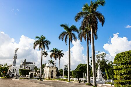 Havana, Cuba – 2019. Alley in Colon Cemetery (Columbus cemetery) from Havana. Stock Photo