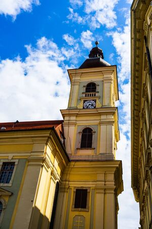 City hall and Council Tower in Sibiu, Romania.
