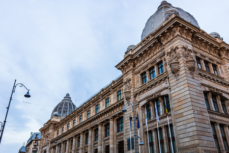 National History Museum building in Bucharest, Romania Stok Fotoğraf - 130377505