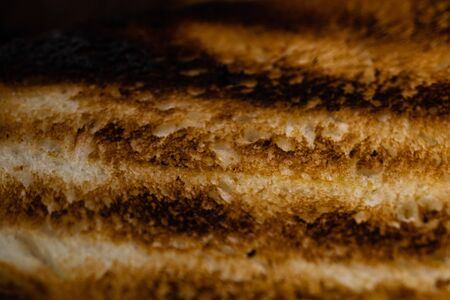 Close up photo of grilled bread. Imagens