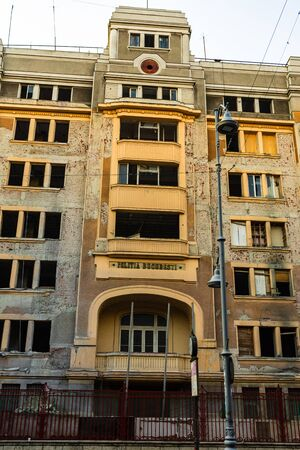 The old Police Headquarters building in Bucharest, Romania, 2019
