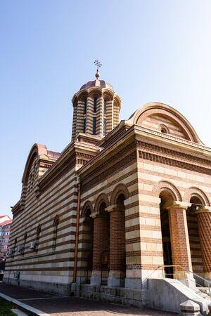 Metropolitan Orthodox Cathedral in Targoviste, Romania, 2019. Orthodox Church architecture.