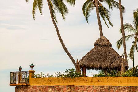 Hotel balcony above the beach in Puerto Vallarta, Mexico