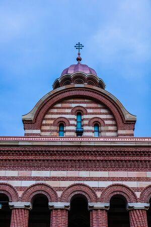 Metropolitan Orthodox Cathedral in Targoviste, Romania, 2020. Orthodox Church architecture. Stock Photo