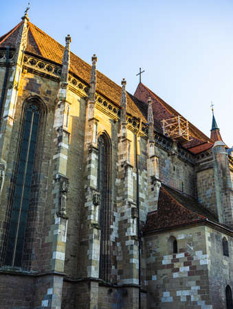 Large Gothic building of the Black Church (Biserica Neagra) in Brasov, Romania