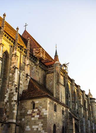 Large Gothic building of the Black Church (Biserica Neagra) in Brasov, Romania