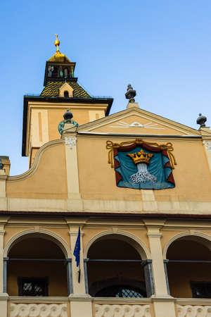 The facade of the Council House (Casa Sfatului) in the Council Square. Brasov, Romania. Zdjęcie Seryjne