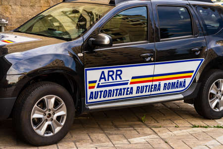 Romanian ARR (Autoritatea Rutiera Romana) car parked in Bucharest, Romania, 2020