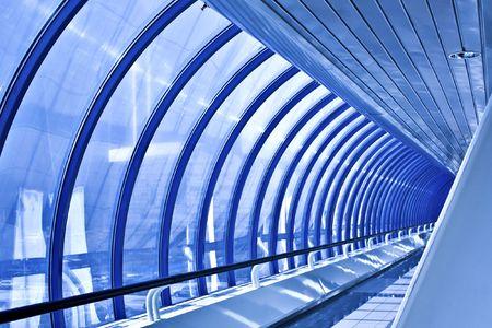 glass corridor in office centre Stock Photo - 4907839