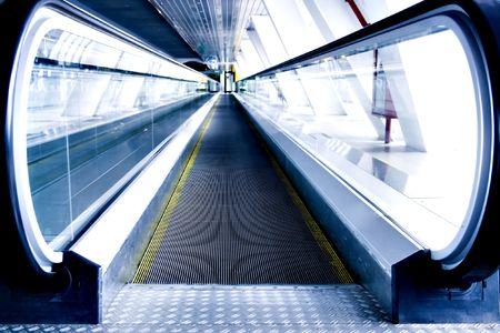 moving escalator in the office hall perspective view Stock Photo - 4962556