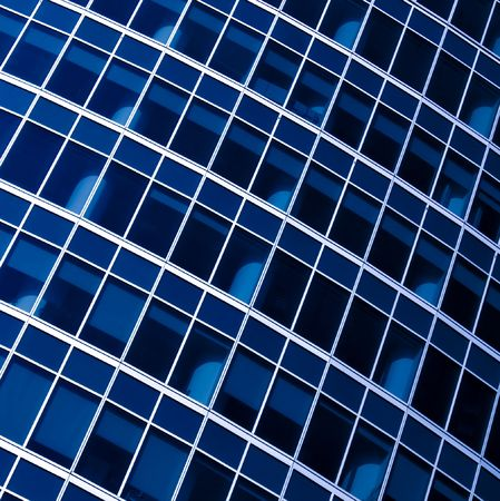 Blue abstract crop of modern office skyscraper Stock Photo - 4999115