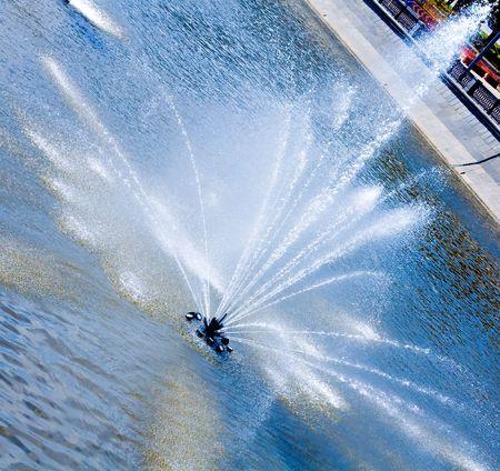 fountain in summer beautifull park photo