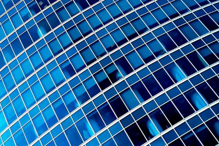Blue abstract diagonal crop of modern office skyscraper Stock Photo - 5139805