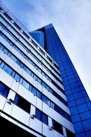 Abstract crop of modern office skyscraper